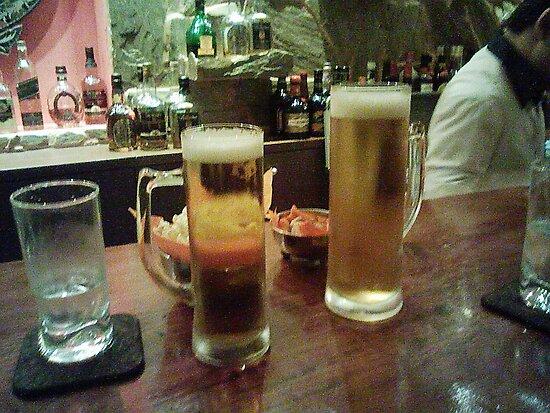 drinking beer by korniliak