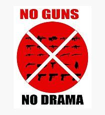 NO GUNS Photographic Print