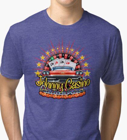 Johhny Casino Autoshop Tri-blend T-Shirt