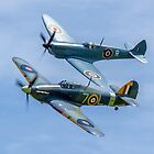 Sea Hurricane & Spitfire formation by Colin Smedley