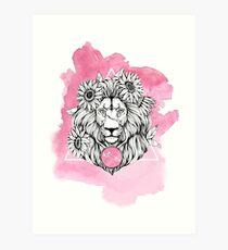 Zodiac Lion Art Print