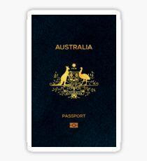 Australia Passport Alcantara Sticker