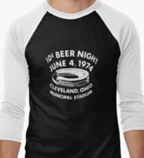 Cleveland 10 Cent Beer Night  Men's Baseball ¾ T-Shirt