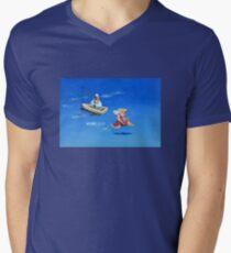 Engel verspielt T-Shirt mit V-Ausschnitt für Männer