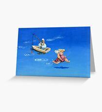 angel playful Greeting Card