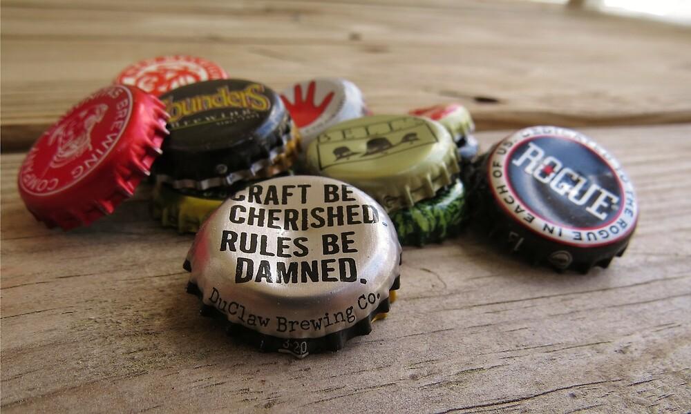 Craft Beer Bottle Caps by ashbish14