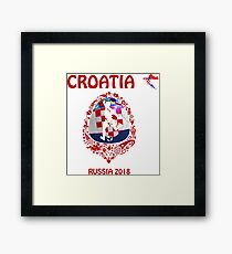 Croatia Croatian soccer team at the World Cup Russia 2018 Framed Print