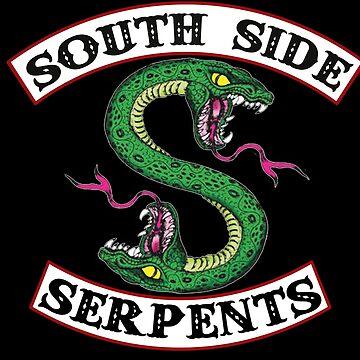South Side Schlangen - Logo Patch von justonedesign