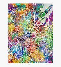 Belfast Northern Ireland City Map Photographic Print