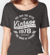 Vintage 1978 - 40th Birthday Gift For Men Women's Relaxed Fit T-Shirt