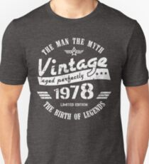 Vintage 1978 - 40th Birthday Gift For Men Unisex T-Shirt