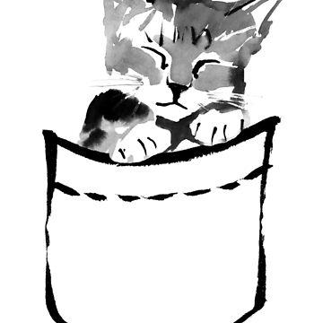 pocket cute cat by pechane