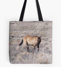 wild horse in a desolate desert Tote Bag