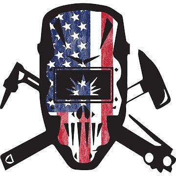 Welder USA Flag Design by kudostees