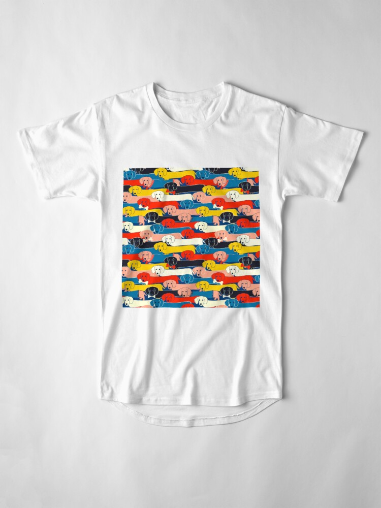 Alternate view of COLORED CUTE DOGS PATTERN 2 Long T-Shirt