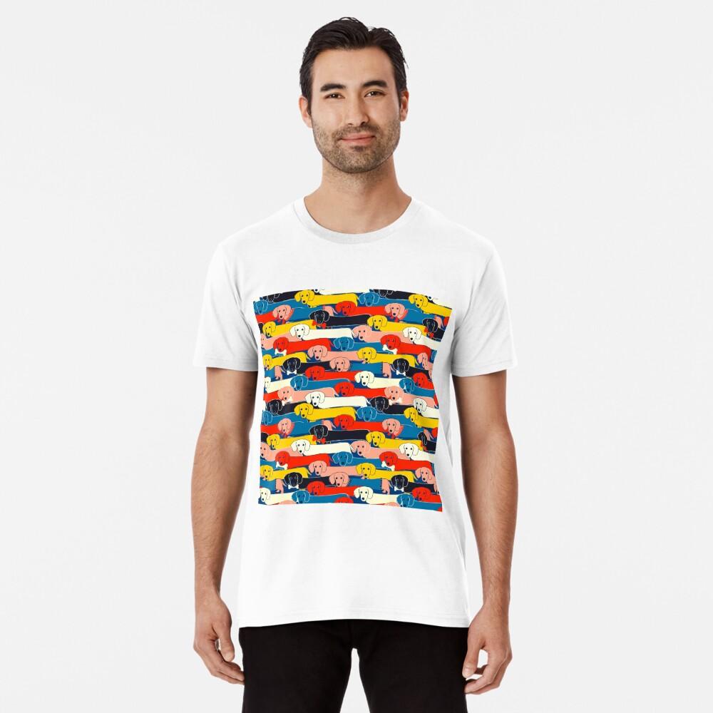 FARBIGES NETTES HUNDE-MUSTER 2 Premium T-Shirt
