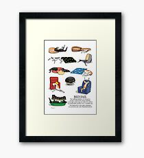 Greyhound Glossary: Bed Fail. A Redbubble exclusive design Framed Print