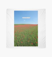 Poppy Field of Remembrance - Professional Photo Scarf