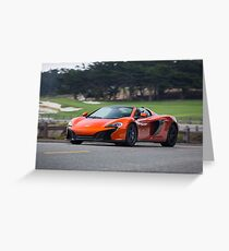 McLaren 650s on 17-Mile Drive Greeting Card