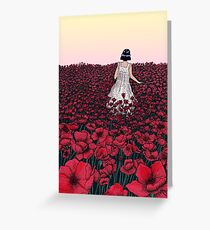 Field of Poppies | Coloured Version Greeting Card