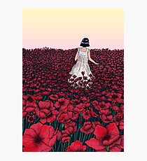 Field of Poppies | Coloured Version Photographic Print