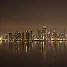 Doha Night Skyline by Kasia-D
