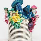 Bright Growth - Mushrooms on a Tin Can by Stephanie KILGAST