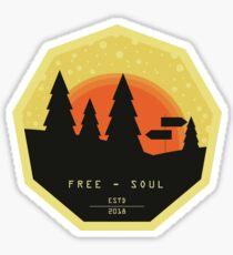 Free Soul Flat Design Sticker