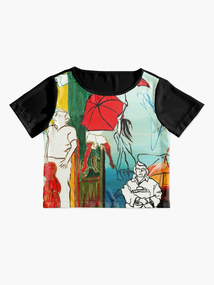 Alternate view of Composition Painting - Umbrella girl with woman  Chiffon Top