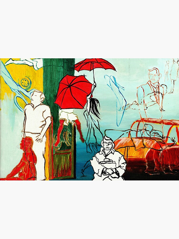 Composition Painting - Umbrella girl with woman  by CatarinaGarcia