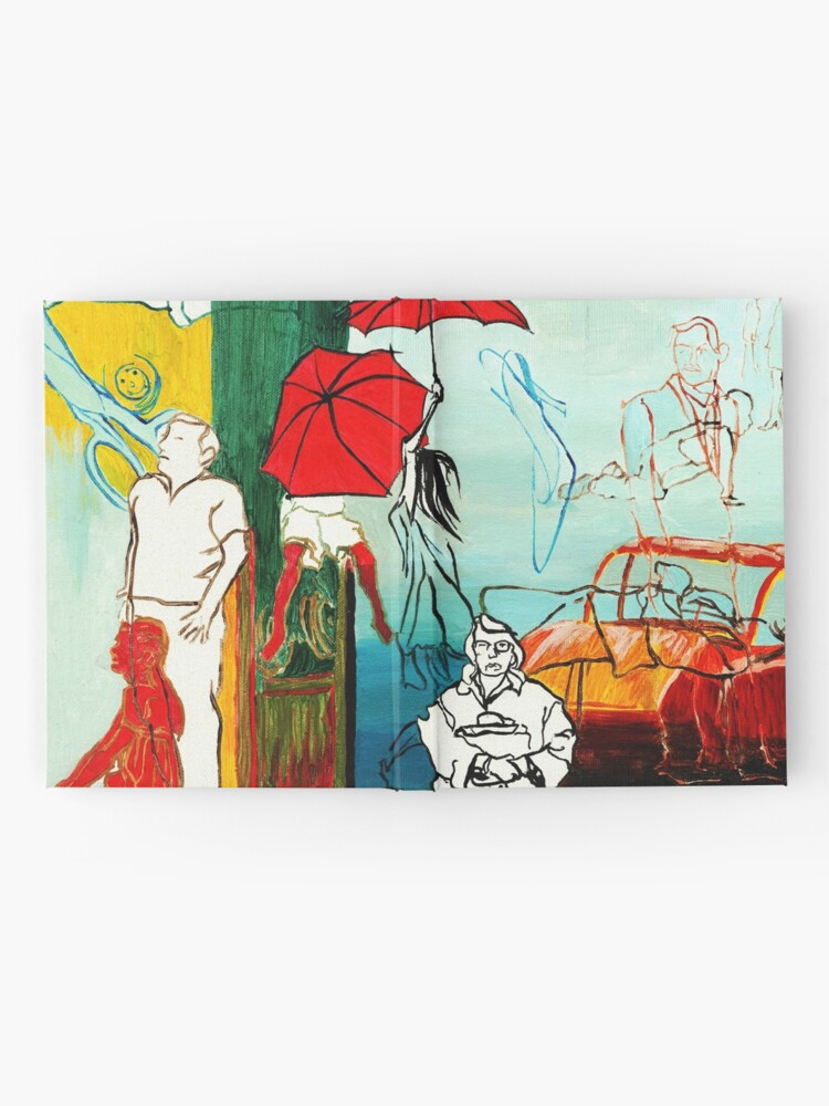 Alternate view of Composition Painting - Umbrella girl with woman  Hardcover Journal