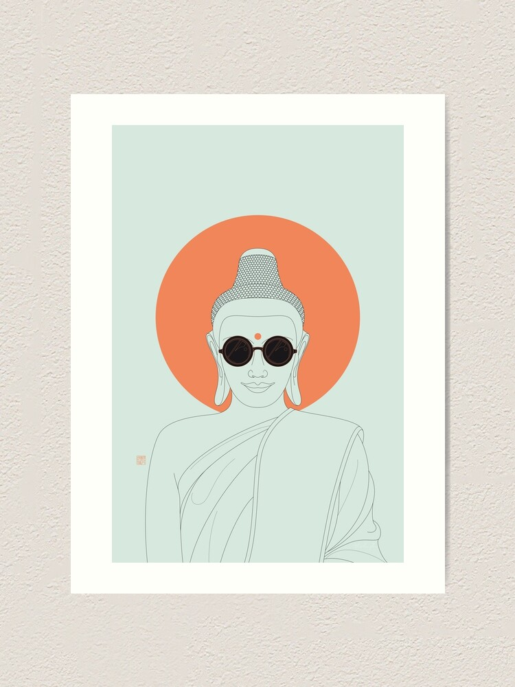 Alternate view of Buddha : Imagine Silence! Art Print