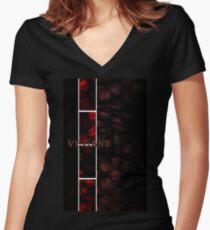 Veganemo change your vision  vegane vegetarien animals environment Women's Fitted V-Neck T-Shirt