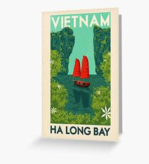 Travel Posters - Ha Long Bay Greeting Card