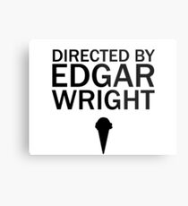 Directed by Edgar Wright  Metal Print