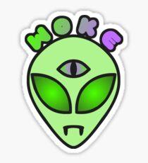 Woke AF Alien Sticker