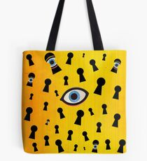 Color Chaos Collection -- They Are Watching Tote Bag