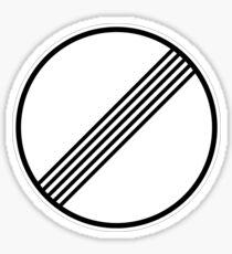 Limits No Longer Apply (Autobahn Sign) Sticker
