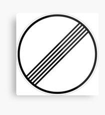 Es gelten keine Grenzwerte mehr (Autobahnzeichen) Metalldruck