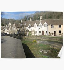 Water Lane, Castle Combe Poster