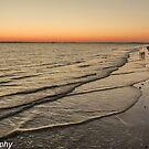 Waves at Sunset by John  Kapusta