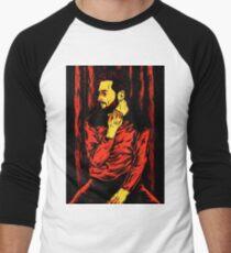 Red Night Men's Baseball ¾ T-Shirt