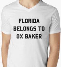 Florida Belongs To Ox Baker Men's V-Neck T-Shirt