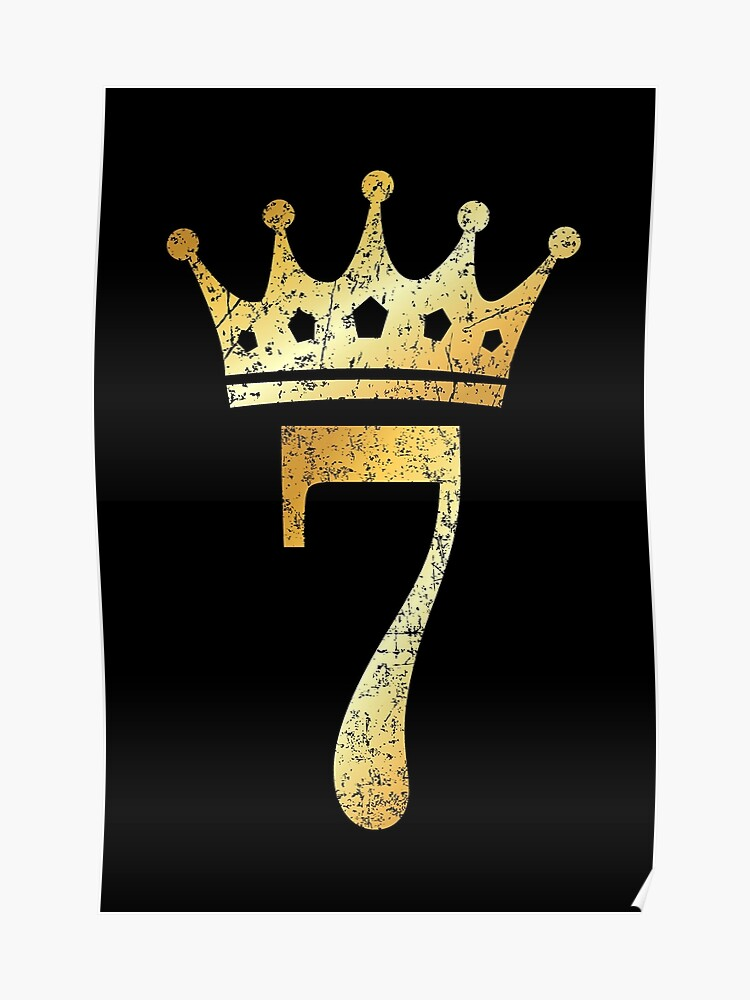 5a58d61c Crown Number 7 - 7th Birthday & Anniversary (Ancient Gold)