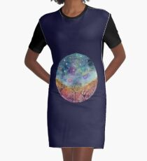 night sky mandala Graphic T-Shirt Dress