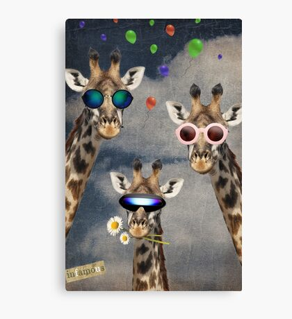 Animal Collection -- Let's Take A Selfie Canvas Print