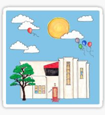 Adah Robinson House by Day Sticker