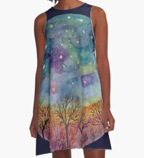 night sky mandala 2 A-Line Dress