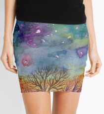 night sky mandala 2 Mini Skirt