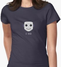 Smiley face emote -  I DID Women's Fitted T-Shirt